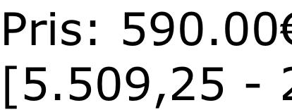 Pris: 590.00€ +VAT: [5.509,25 - 25.02.2018]